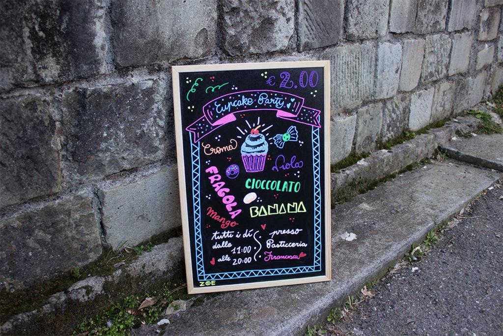 chalk lettering 5 Terre La spezia restaurant, bar