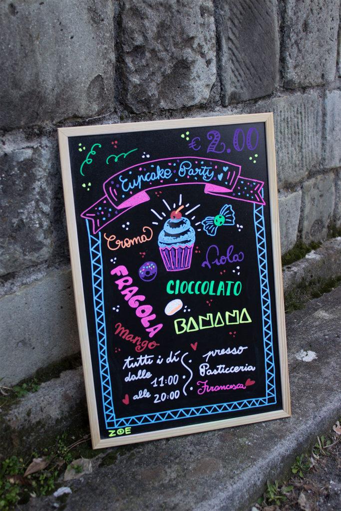 lavagne decorate ristoranti, bar, gelateria 5 terre, La Spezia